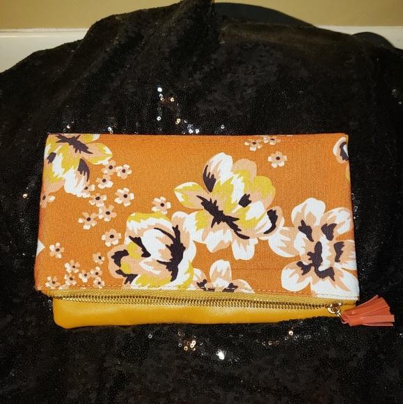 Rachel Pally Handbags - RACHEL PALLY ENVELOPE CLUTCH FLORAL & MUSTARD